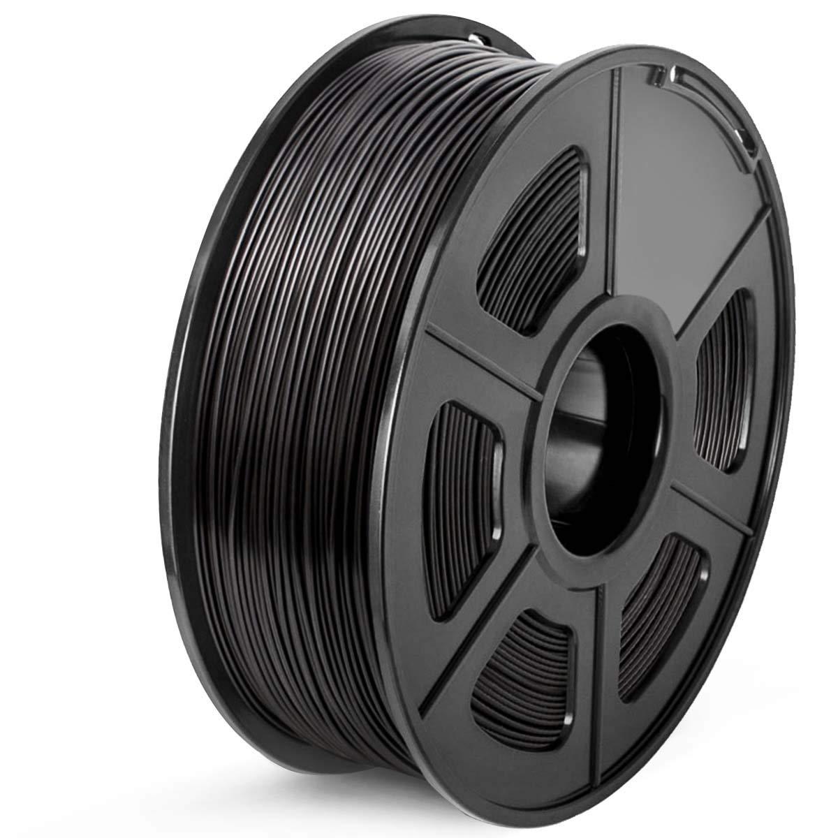 SUNLU ABS 3D Printer Filament, 1.75 ABS Filament Dimensional Accuracy +/- 0.02 mm, 1 kg Spool, 1.75mm, ABS Black