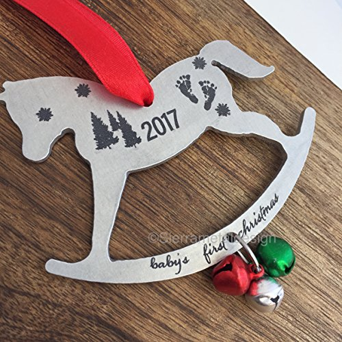 Baby's First Christmas Rocking Horse Ornament Christmas Tree Decoration 2017
