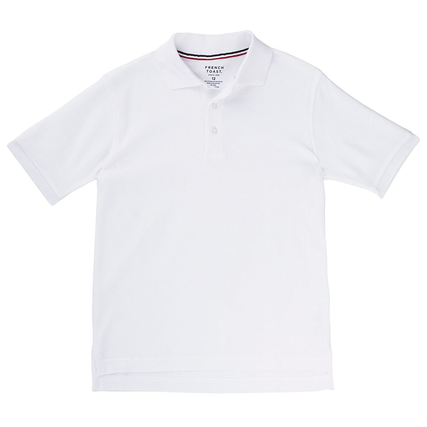 French Toast S/S Pique Polo - white, 3t