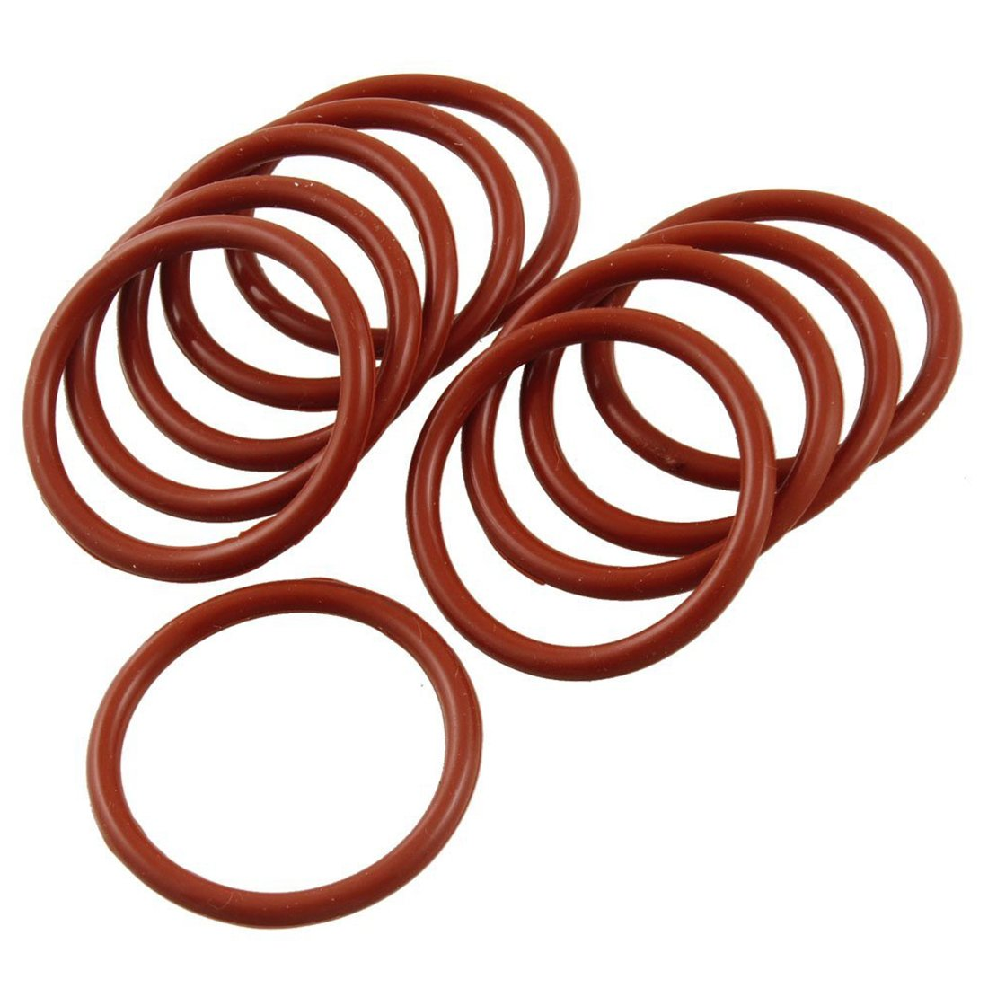 O Ring - TOOGOO(R) 10 PCS Flexible Silikon O Ring Dichtung Dichtungsring 33 mm x 40 mm x 3, 5 mm