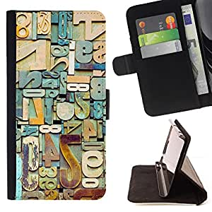Jordan Colourful Shop - metal junk numbers letters teal For Apple Iphone 5 / 5S - Leather Case Absorci???¡¯???€????€????????&ce