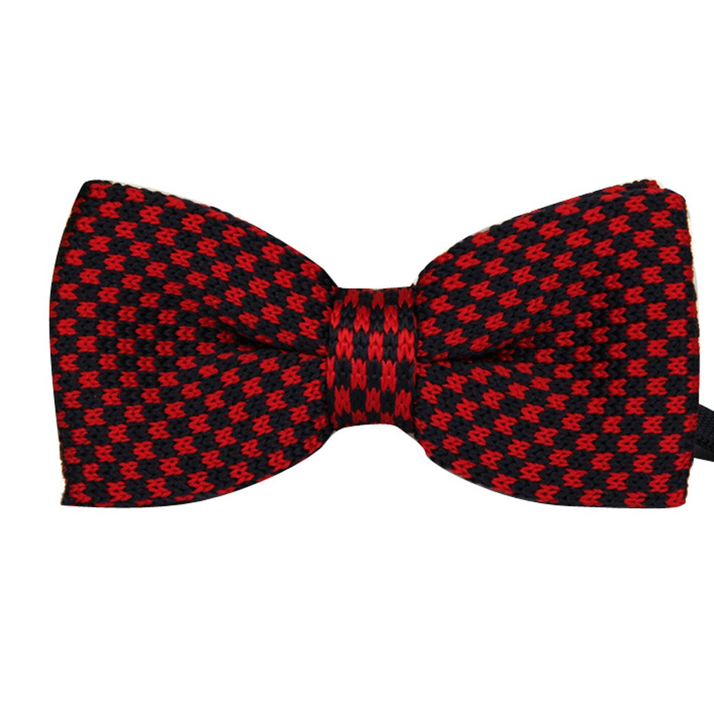 TANGDA Casual Men Stripe Weave Pre-tied Bow Tie Cravat Bowtie 7 Colors Available FSG40706