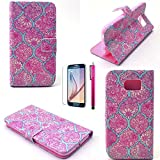 S4 Mini Case, JCmax Fashion Beautiful Flower Style High Quality Hard PC [Non-Fracture] Hard Back Cover Case For Samsung Galaxy S4 Mini (1 x screen protector 1 x stylus pen)-Lotus