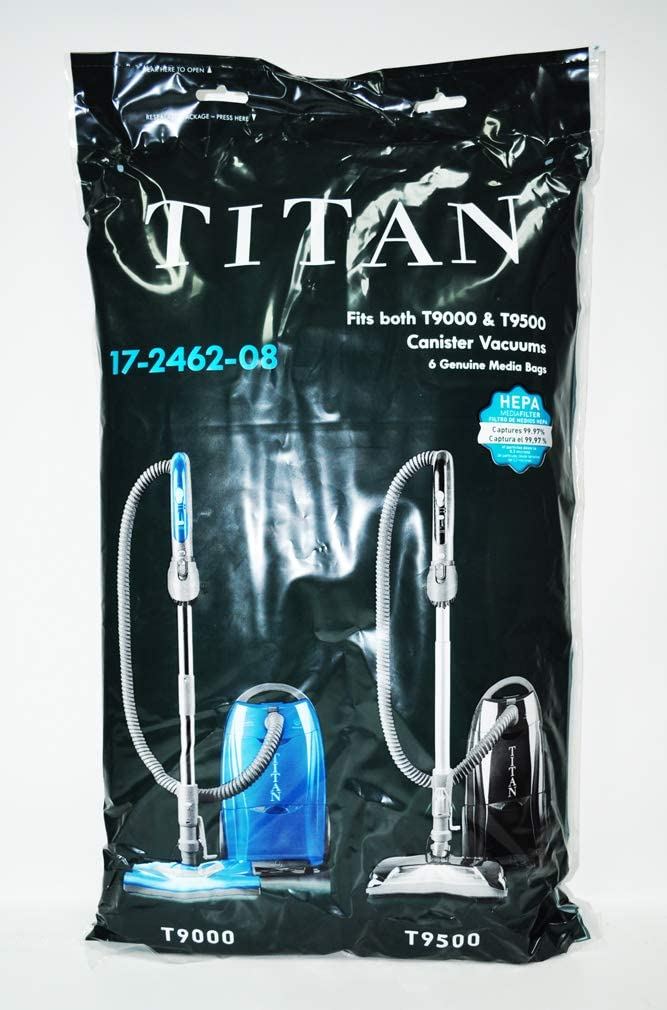 Titian T9000 and T9500 Canister HEPA Vacuum Bags