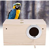 Bird Aviary Cage Box, Parrotlets Mating Box, Bird Breeding House with Stand Non-Toxic Bird House for Budgerigars for…