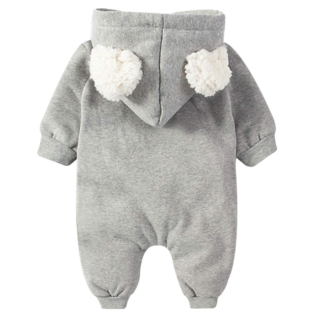 Famuka Baby Clothes Girls Boys Jumpsuit Outwear Winter Warm Romper