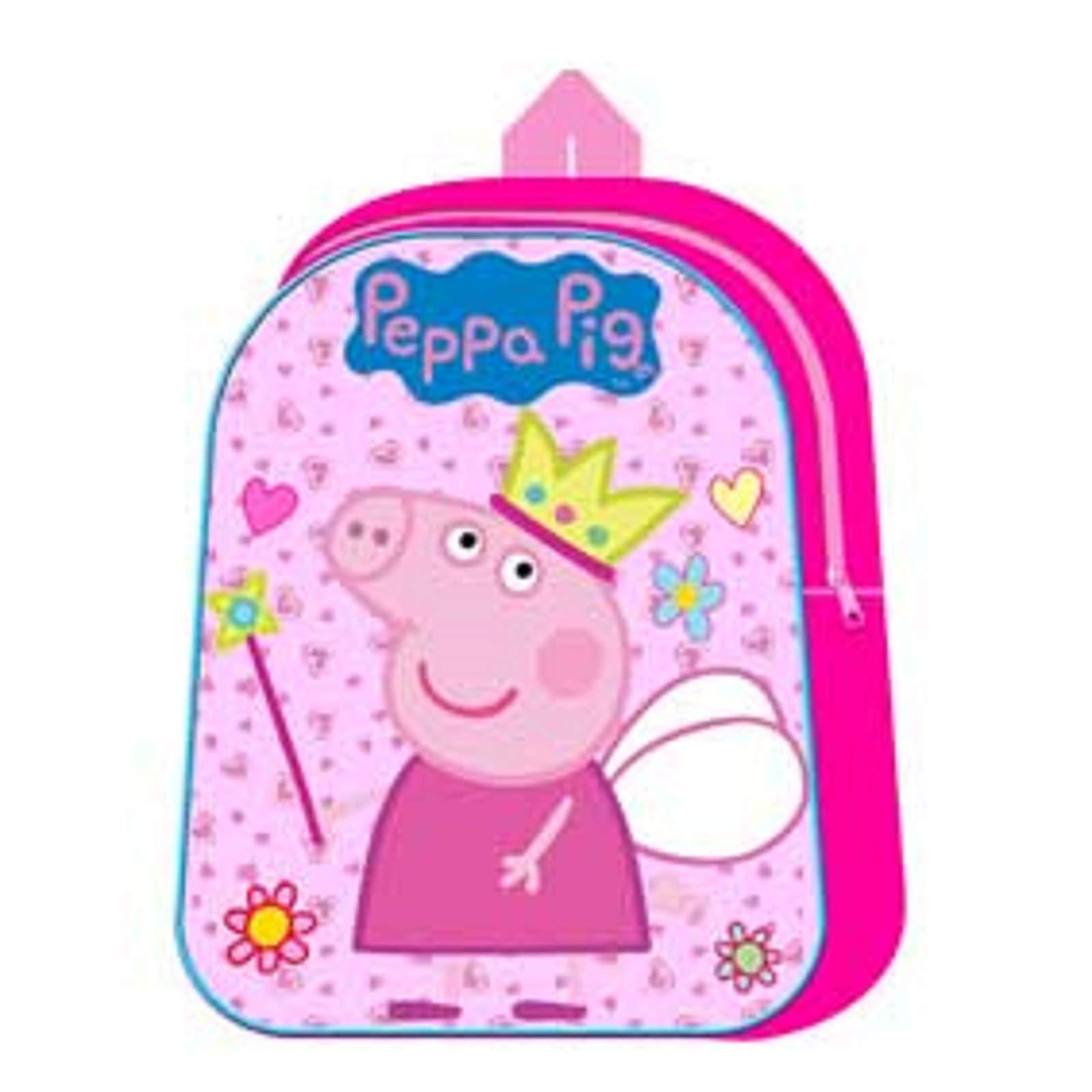 Peppa Pig Kids Childrens Nursery School Bag Backpack