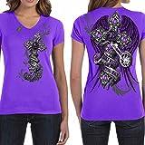 Bike Week Daytona Beach 2017 Ladies Purple Motorcycle T-Shirt 027 (X-Large, Purple)