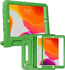 HDE iPad 8th Generation Case for Kids with Built-in Screen Protector – Shock Proof iPad Cover 7th Generation 10.2 - iPad 10.2 Kids Case with Handle Stand for 7th/8th Generation Apple iPad - Green