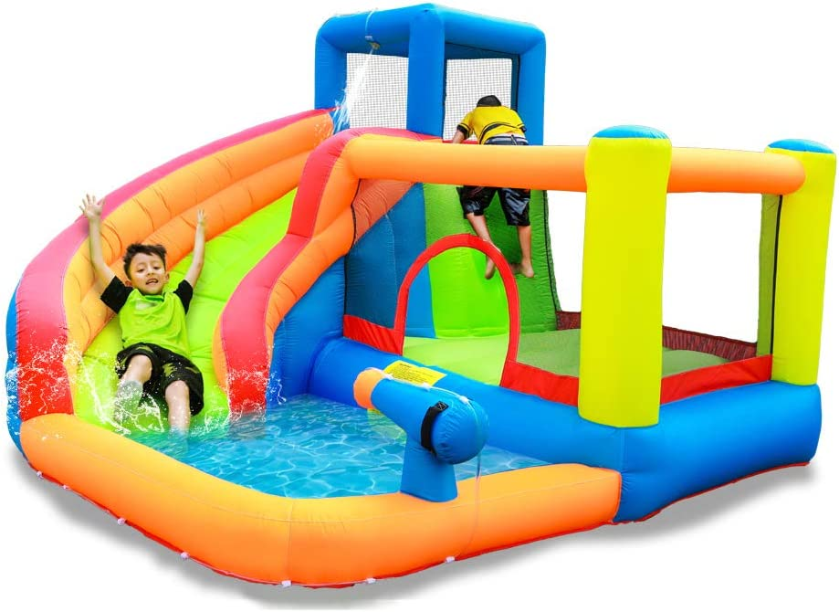 doctor dolphin Castle Water Slide for Kids