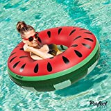 Official 'Perfect Pools' Inflatable Giant Watermelon Rubber Ring | Swimming Pool Float 110cm …