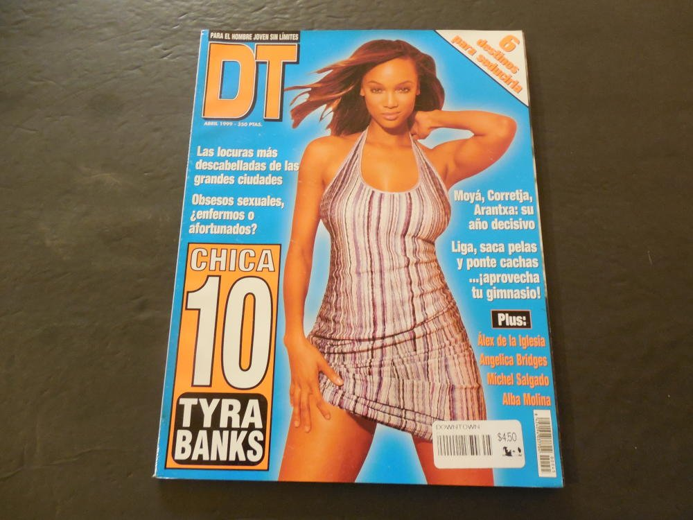 DT Spanish Language Magazine Apr 1999 Tyra Banks at Amazons Entertainment Collectibles Store