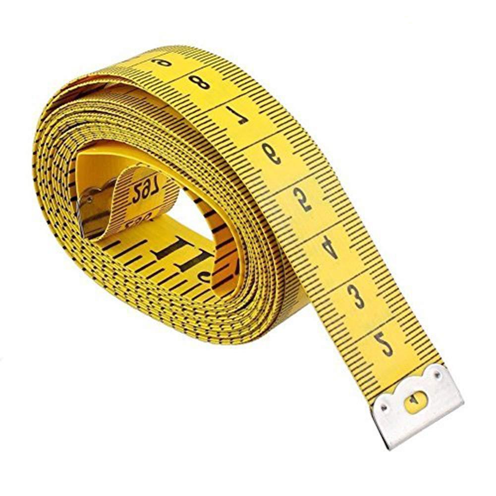 wicemoon Weich Maßband 120-inch 300cm für Sewing Tailor Tuch Lineal Gelb