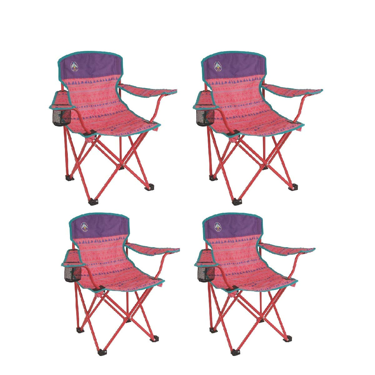 Coleman Kids Quad Chair (4 Set, Pink)