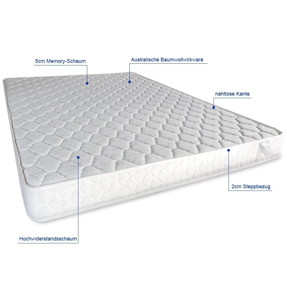 [corium] &apos tapizada (Barcelona con colchón (160 x 200 cm) (marrón) (Espuma Fría) - con piel sintética y piel sintética funda/Modern/con stec klatt ...