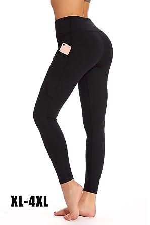 bf3e9e81287e6 YOHOYOHA Plus Size Leggings High Waist Athletic Workout Yoga Pants Pockets  Women s Tummy Control Best Thick