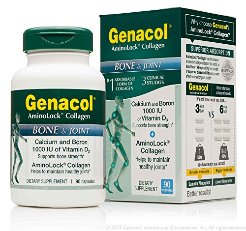 1 Mg 90 Pills (GENACOL Bone and Joint Health Supplement Certified Non-GMO | Calcium, Magnesium, Vitamin D3, Boron, Complex with AminoLock collagen | For Bone Strength/ Density, & Knee/ Back support (90 Capsules))
