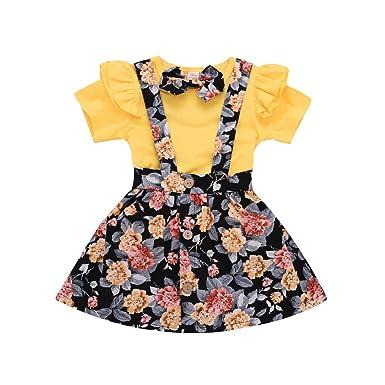 1-6 años, SO-buts Niñas Bebé Niña Verano Encantador Floral Ruffled ...