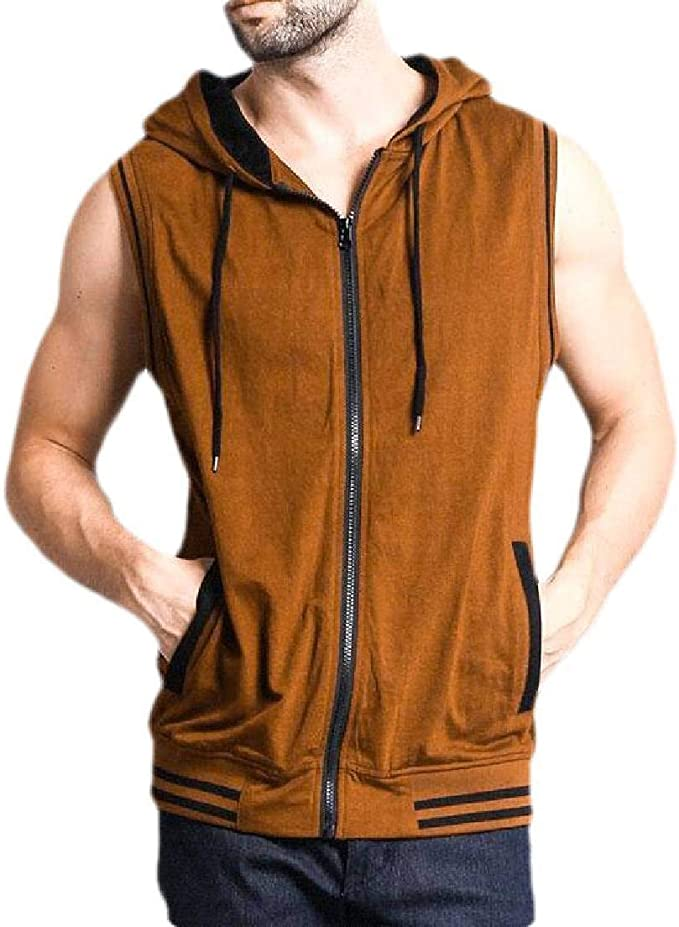 Etecredpow Men Classic-fit Tops Hoodies Pullover Fitness Pocket Long Sleeve Sweatshirts
