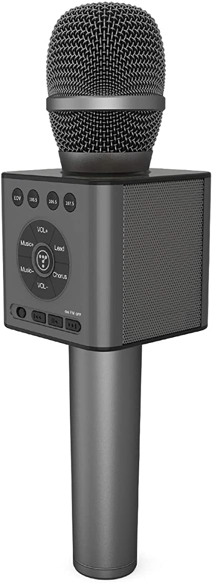 TOSING Wireless Bluetooth Karaoke Microphone,3-in-1 Portable ...