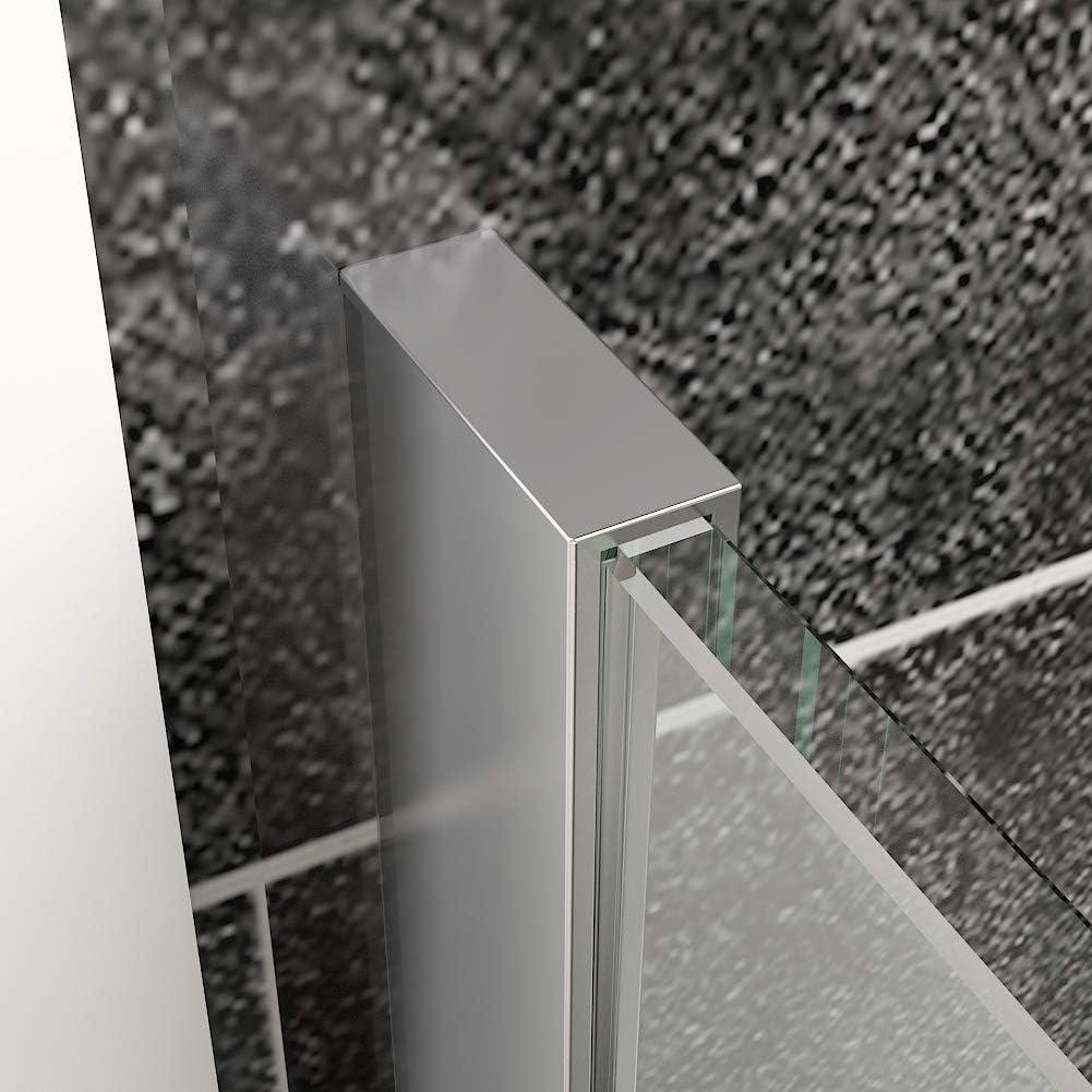 SIRHONA Paroi de douche l/'italienne 90 x 190 cm avec panneau de verre de mobile 30 cm Porte de douche avec barre de fixation 8mm verre tremp/é la porte douche