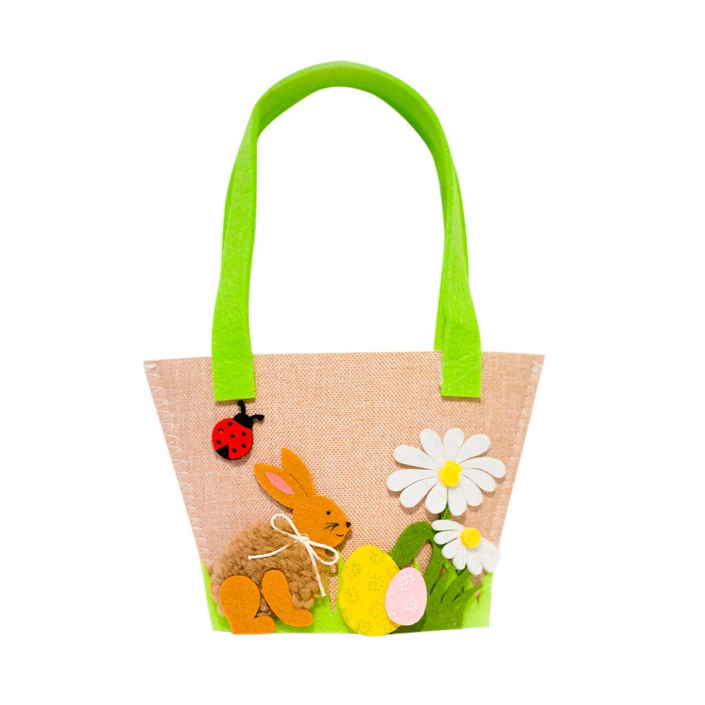 Garish  1 x Candy Bag,Easter Rabbit Gift Multicolor Candy Bag Creative Present Home Storage Bag Brown