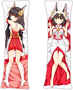 vucosfly Azur Lane Nagato Anime Body Pillowcase Home Décor 2 Two Way Tricot 150 x 50cm(59in x 19.6in) Throw Pillow Covers