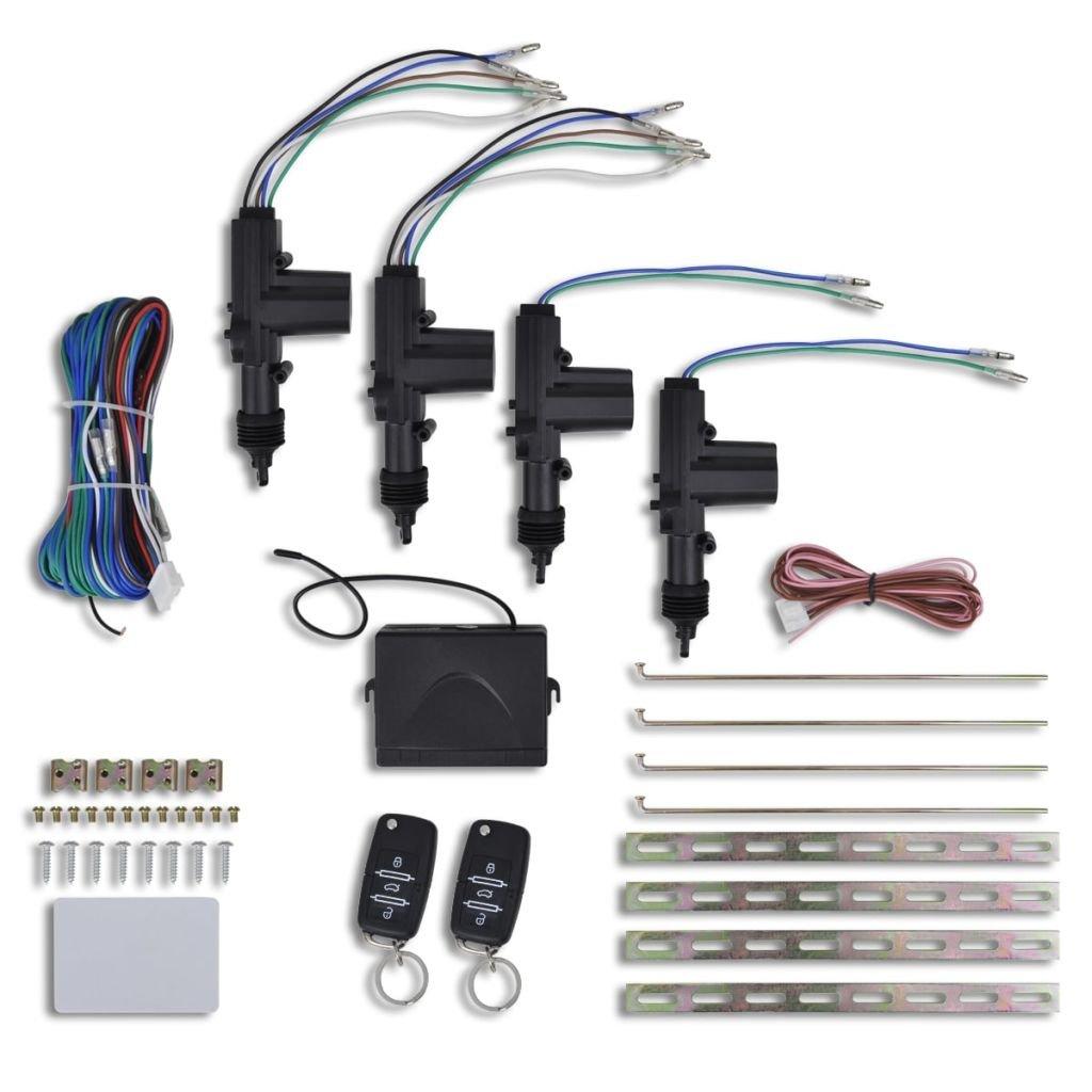 vidaXL Auto Set chiusura centralizzata con telecomando adatto per VW/Audi/Skoda
