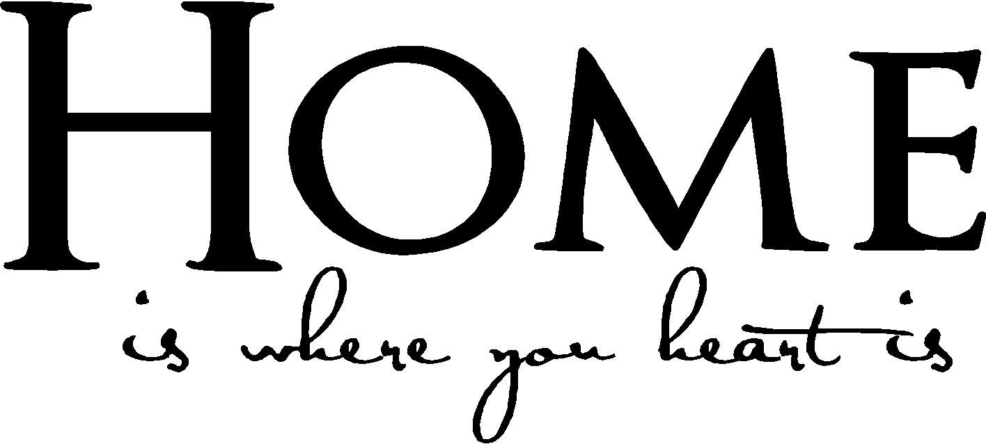 Amazon Home Is Where Your Heart Is Family Vinyl Wall Decals