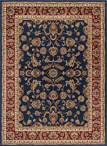 Red Transitional Area Rug - Universal Rugs Sariya Transitional Oriental Navy Rectangle Area Rug, 6.7' x 10'