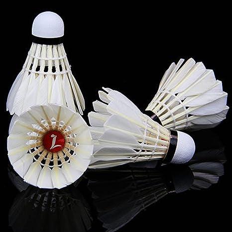 zjstar 12 x Trainin deporte blanco de plumas volantes birdies ...