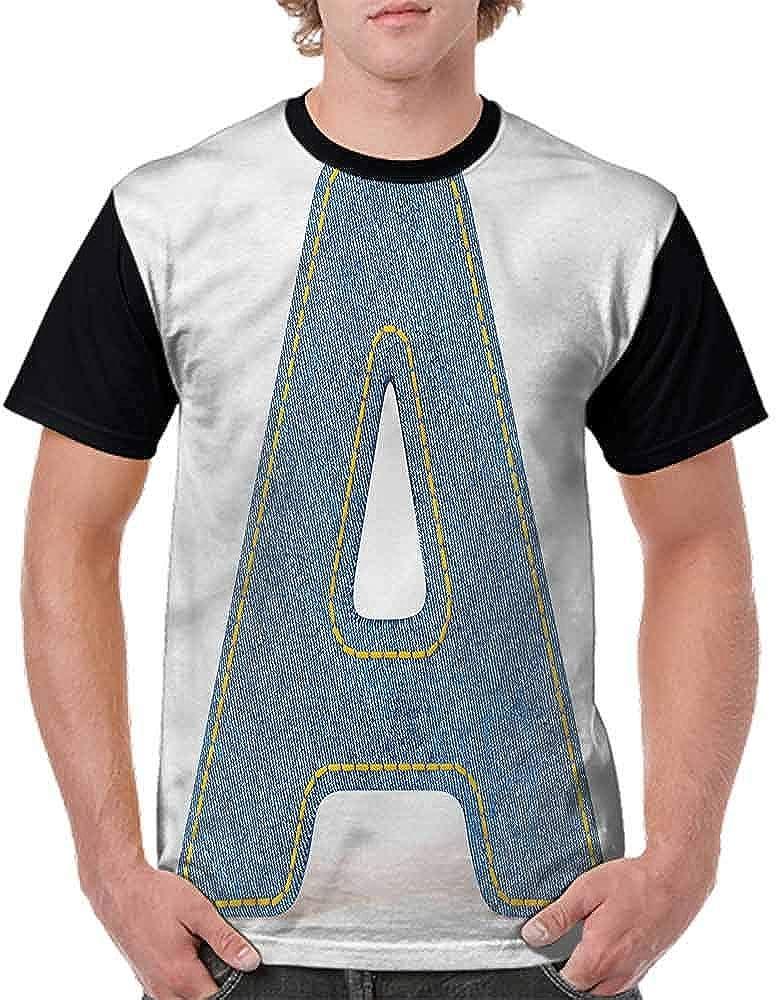 BlountDecor Classic T-Shirt,Blue Uppercase Jeans Fashion Personality Customization