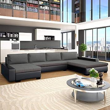 vidaXL - Sofá esquinero con función de sueño, sofá y sofá ...
