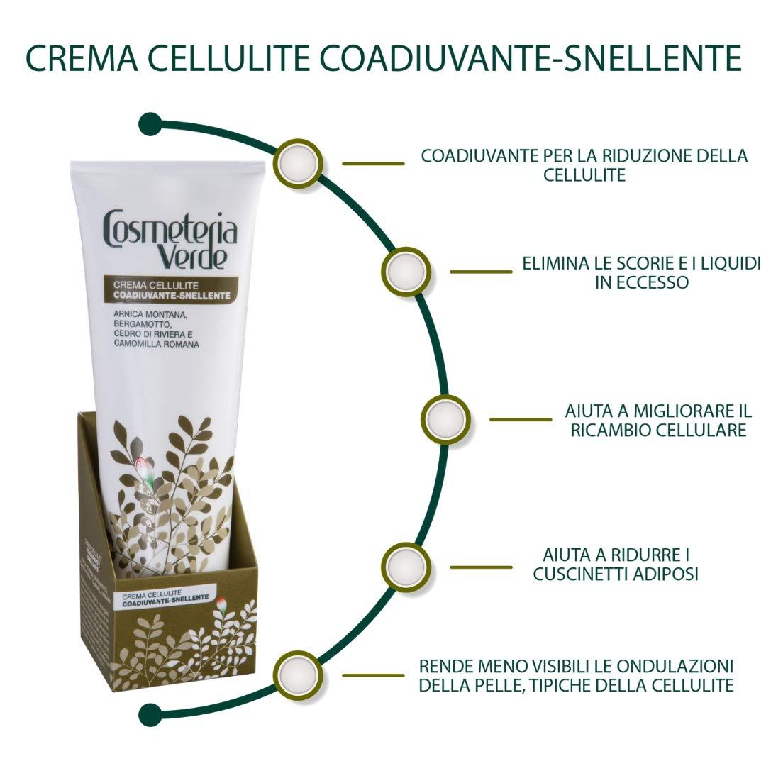 Crema Celulitis Coadyuvante-Adelgace Cosmeteria Verde - Formula especial, coadyuvante para la reducción de las alteraciones estéticas de celulitis.