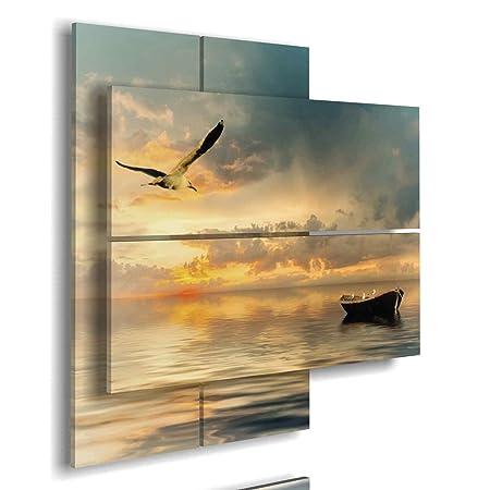 Quadro Mare 3D multilivello - Quadri Moderni paesaggi per Camera da Letto