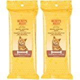 Burt's Bees for Cats Natural Dander Reducing Wipes | Kitten and Cat Wipes for Grooming | Cruelty Free, Sulfate & Paraben Free