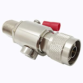 Coaxial N Type Lightning Arrestor 0 to 6 GHz (N-Male/N-Female) 50ohm,Protects 3G, 4G, LTE,GPS, 2.4GHz /5GHz Wi-Fi, 900MHz, Ham Other Outside Antennas