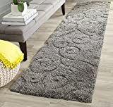 Safavieh Florida Shag Collection SG455-8013 Scrolling Vine Grey Graceful...
