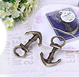 Youkwer 30 PCS Skeleton Nautical Anchor Bottle Opener with Exquisite Packaging for Wedding Party Favors Gift & Decorations (Antique Bronze) (Pack of 30)