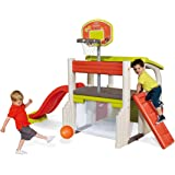 Smoby - 840203 - Jeu Plein Air - Air de Jeux - Fun Center - Toboggan Multi Activités