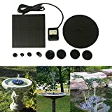 Putars Solar Bird Bath Fountain, 1.4W Floating Solar Panel Kit Water Pump, Outdoor Watering Submersible Pump for Bird Bath,Fish Tank,Small Pond, Garden Decoration