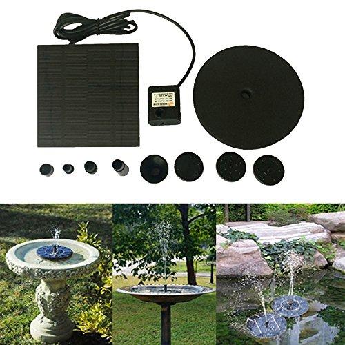 Solar Bird bath Fountain 7V/1.4W Pump with 4 pattern for Garden and Patio (A) by Dreamyth