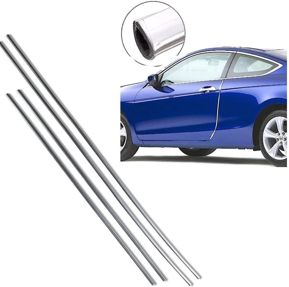 DOBO/® set 4 strisce Protezioni salva portiere cromata auto sportelli 68 cm 88 cm guarnizione protezione urti sportello macchina