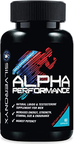 Alpha Performance Pills Extra Strength Energy, Mood Endurance Support – Natural Size, Stamina Strength Support – Best Performance Supplement for Men – 60 Capsules