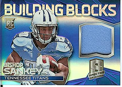 Football NFL 2014 Spectra Building Blocks Jerseys Blue Prizm  8 Bishop  Sankey MEM 5  24779833f