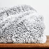 Berkshire Blanket Frosty Tipped Extra-Fluffy Plush Throw, Ash
