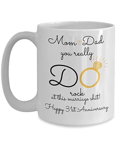 Image Unavailable. Image not available for. Color: 31st Wedding Anniversary Gift ...