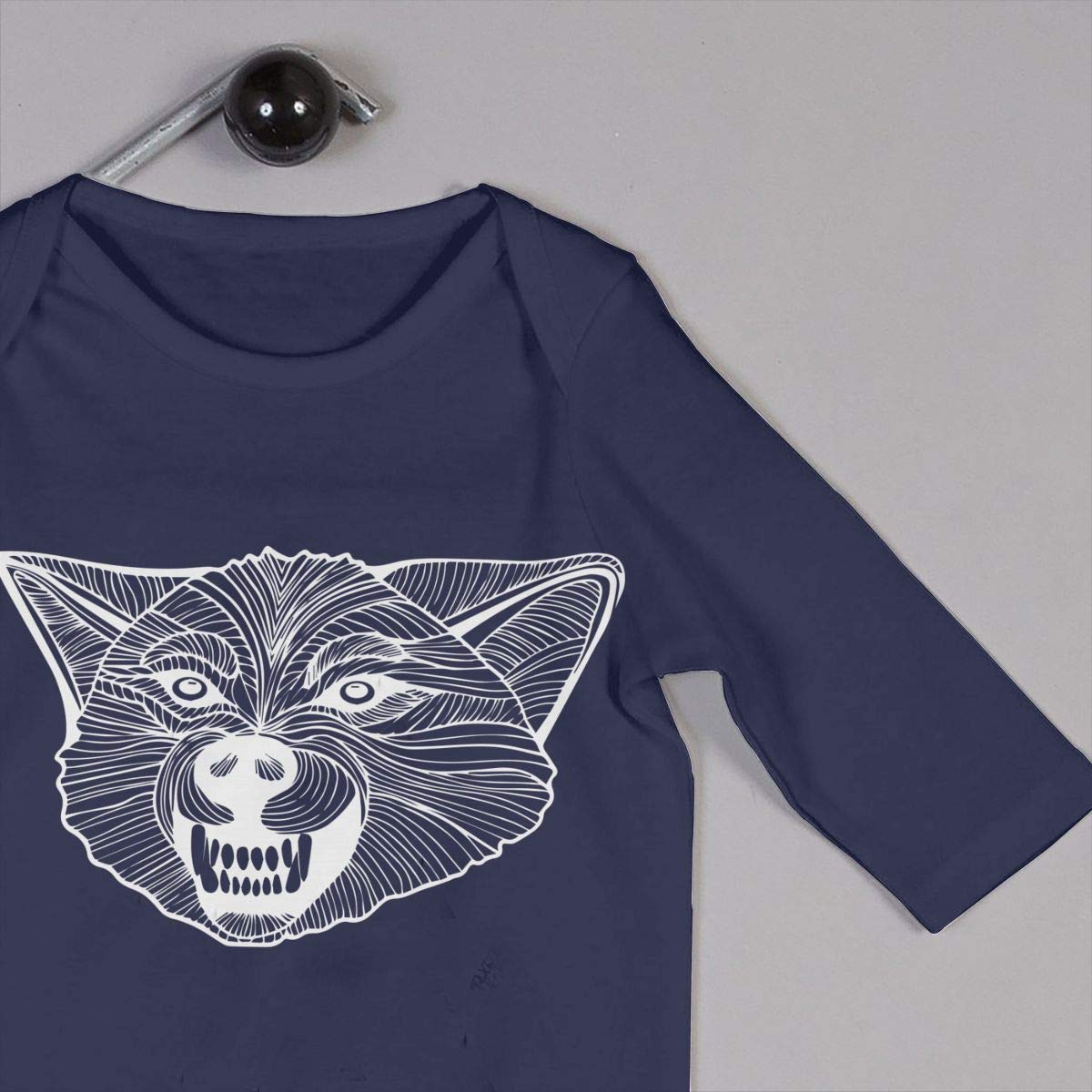 Wild Wolf-1 Newborn Kids Baby Boys Organic Cotton Jumpsuit Overall Romper