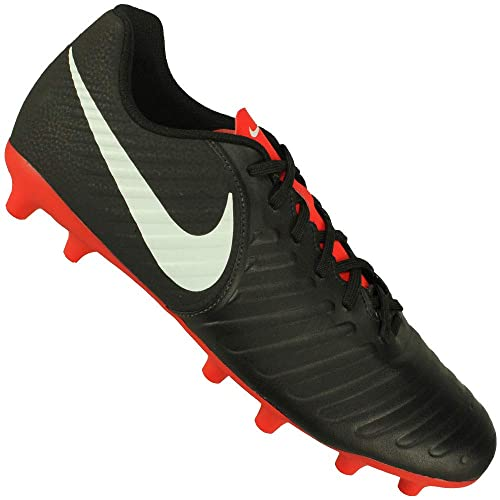 1ee108d79b25 Nike Men's Legend 7 Club MG Black/Pure Platinum-LT Crimson Football Shoes (