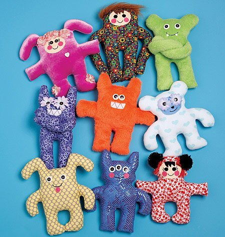 McCall's Patterns M5826 Creature Dolls, One Size Only (Pattern Soft Toy)